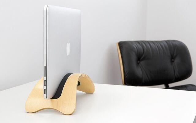 """SamDi Massiv Holz Halterung Ständer Tisch Halter f Apple MacBook 12"""" Air 11"""" 13"""""""