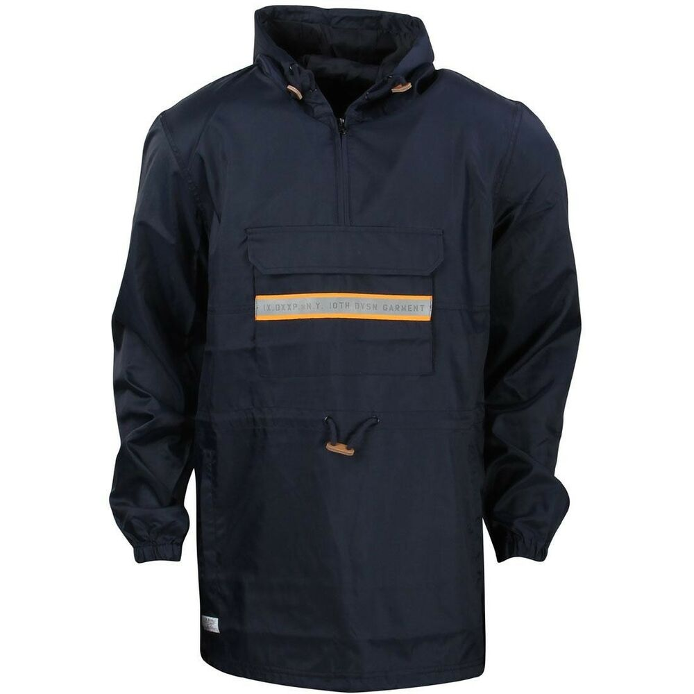 $128 10 Deep Hommes Queue De Poisson Slicker Veste Bleu Marine