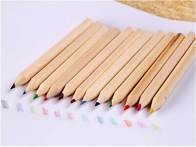 12pcs/Set Drawing Colouring Painting Pencils Kit Pens Kids Gifts W/ Sharpener $@