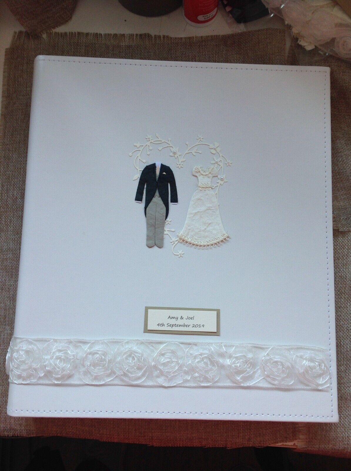 .LUXURYTraditional Wedding Photo Album, Tissue Interleaved Sheets., PERSONALISED