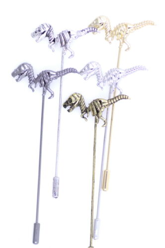Vintage Goth Estilo Dinosaurio Esqueleto Raptor Broche Bolsa Pin múltiples opciones