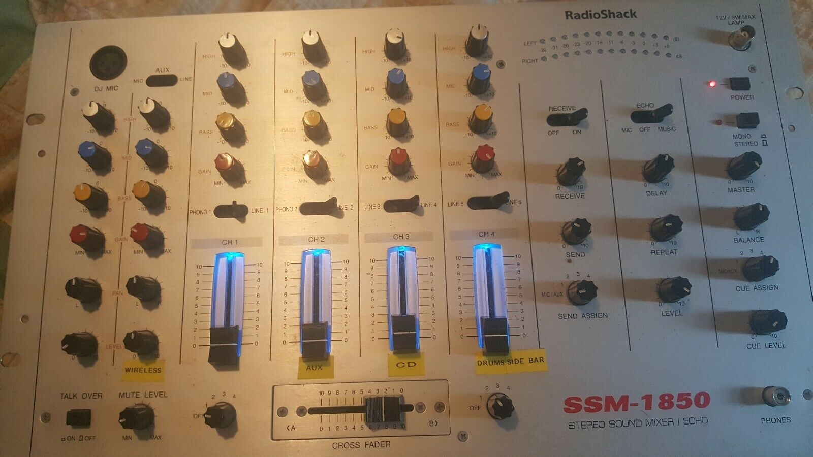 Radio Shack SSM-1850 Stereo 4 Channel Mixer / Equalizer . Buy it now for 150.00