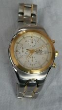 Item 1 Watch Alba 10 Bar Chronograph Water Resistant Fun Gold Tone Silver