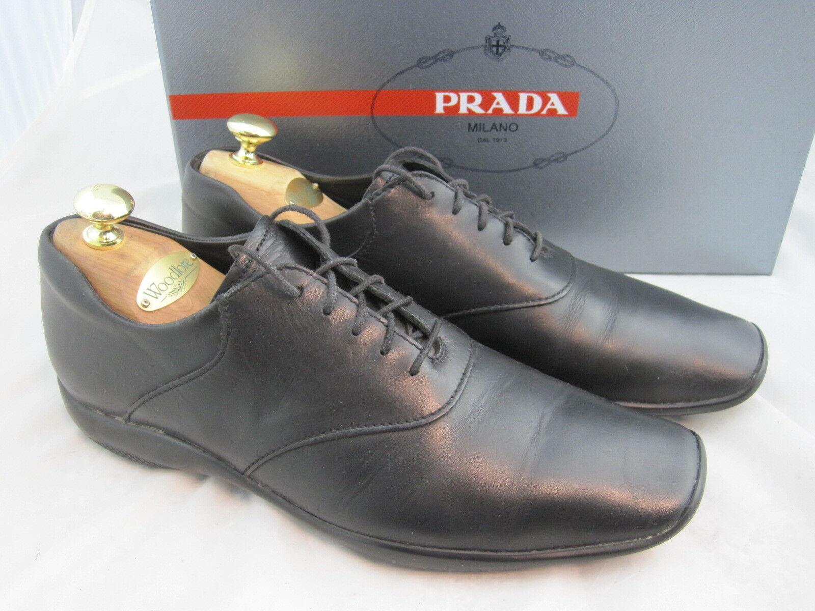 Prada zapatos caballero en 40,5  Mejores negro np