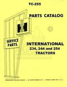 image is loading international-harvester-234-244-254-tractor-parts-catalog-