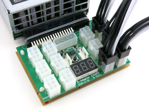 Dell Power Edge Power Supply 12 Port Chain Sync Breakout Board Kit w PCIE Cable