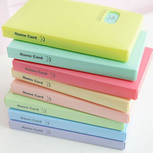 Smile-Card-Photocard-Name-Card-ID-Holder-120-Pocket-Photo-Album-Clip-Candy-Color