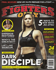 Ronda Rousey Fighters Only Magazine 2015 UFC CHAMP No Label MMA