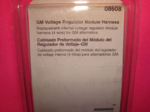 GM ALTERNATOR VOLTAGE REGULATOR MODULE 4 WIRE HARNESS CONNECTOR SOCKET PLUG