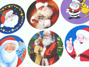 12-Pere-Noel-Pere-Noel-Autocollants-Amusant-Noel-Etiquettes-XSANTA51