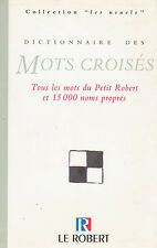 DICTIONNAIRE des MOTS CROISES Petit ROBERT livre