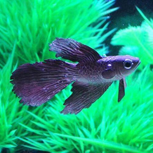 Artificial Soft Silicone Glowing Effect Betta Aquarium Fish Tank Ornament Decor