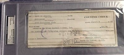 Cards & Papers Temperate Doris Day Signed Check Psa/dna Slabbed Actress 10 Autograph Non-Ironing