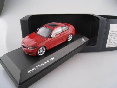 Bmw 2er Coupe en rojo iscale bmw werbemodell escala 1:43 OVP nuevo