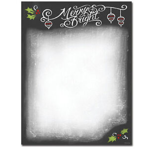 image is loading chalkboard design winter christmas stationery letterhead 25 or