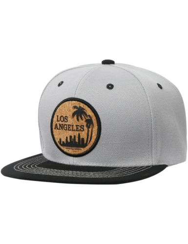 USA SNAPBACK Los Angeles Hat CORK Patch 6 Panel Baseball Cap Embroidered
