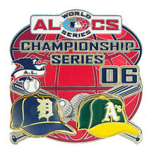 2006 American League Championship Series Dueling Caps Pin - Tigers vs Athletics