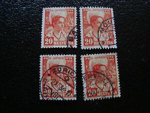 Switzerland-Stamp-Yvert-and-Tellier-N-300-x4-Obl-A14-Stamp-Switzerland