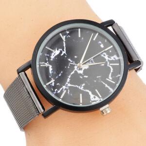 Mode-Homme-a-quartz-Analogique-Cadeau-elegant-Montre-bracelet-Marbre-watches