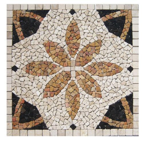 Fliesen Lager Stein-mosaik NRW Herne 1 Mosaik Bild RO-005-90x90 Rosone