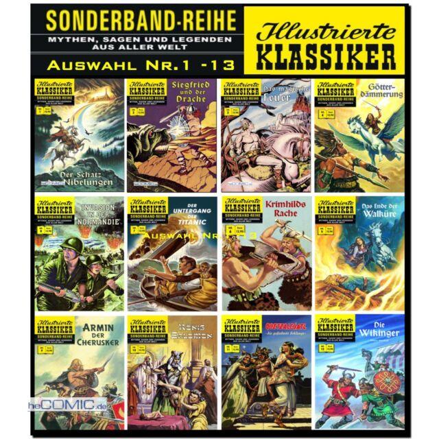 Illustrierte Klassiker Sonderband 1 - 13 Extra 1 - 3 Auswahl BSV CCH COMIC NEU
