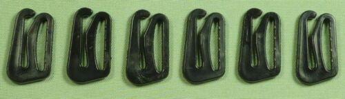 6 pièces soutien-gorge Bikini Fermeture 12 mm en plastique noir