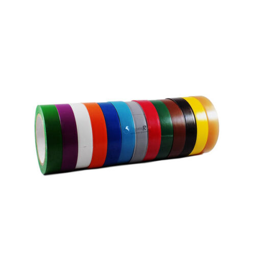 64 ROLLS Vinyl Pinstriping Tape 13 OSHA COLORS Available 3//4INCH x 108Feet 5MIL