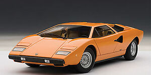 Autoart Lamborghini Countach Lp400 Orange Color 1 18 Nice New