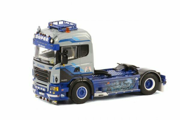 1 50 WSI Scania R5 Highline 2-Achs ZM GRUNDHÖFER 01-1754