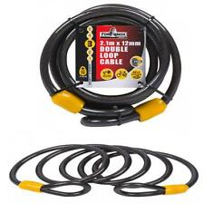 FORT KNOX 12mm x 2.1 mtr Long Security Cable Bikes Mowers Chainsaws Not Chain