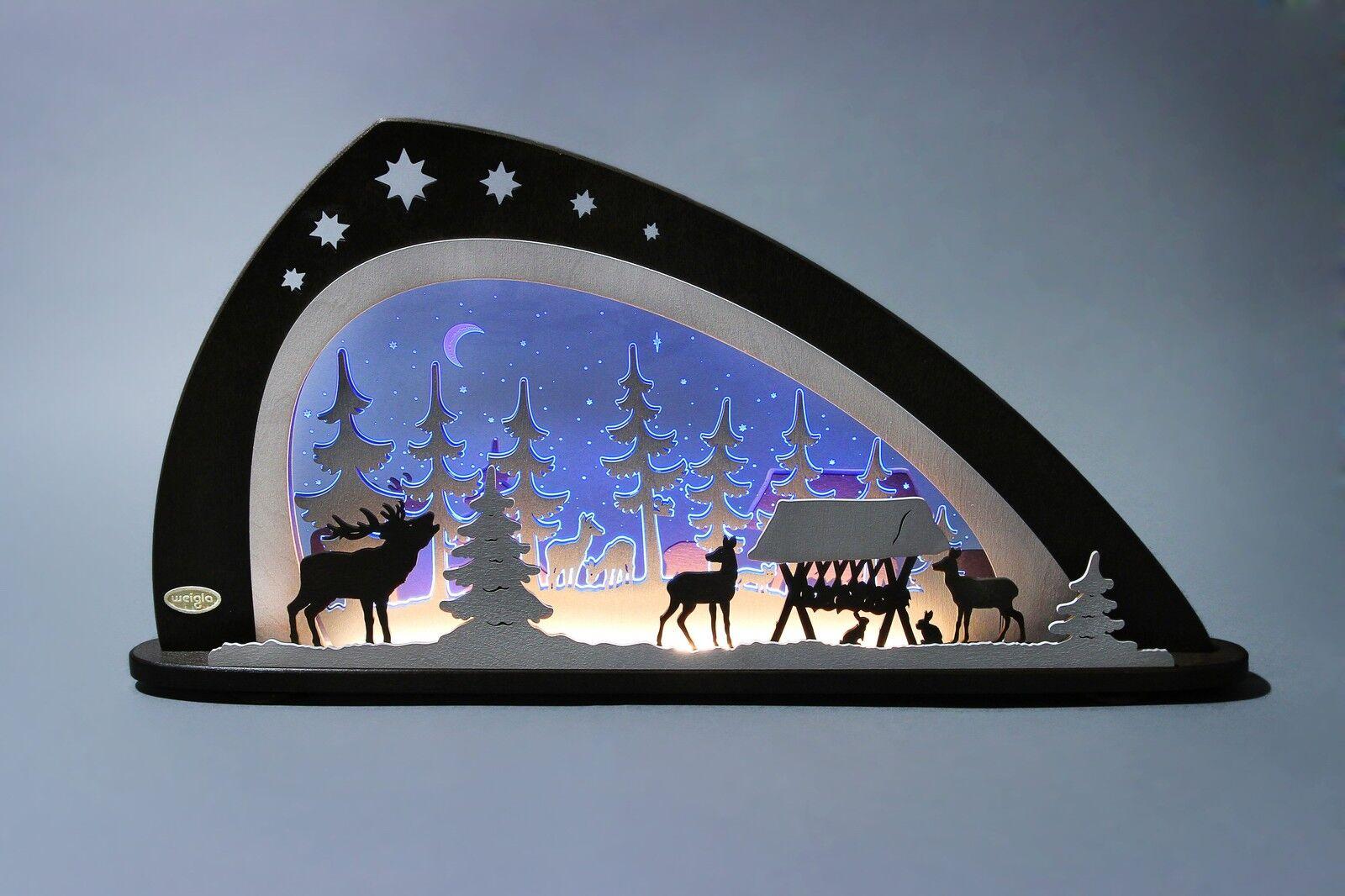 Motivleuchte Cerf longueur env. 66cm NEUF ARC lumineux LED Forêt Rehe