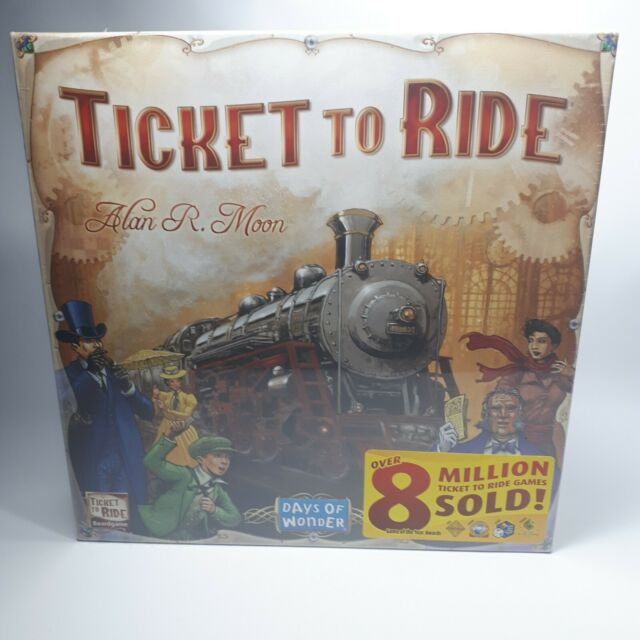 Days of Wonder Ticket To Ride by Alan Moon Train Adventure Board Game-USA*