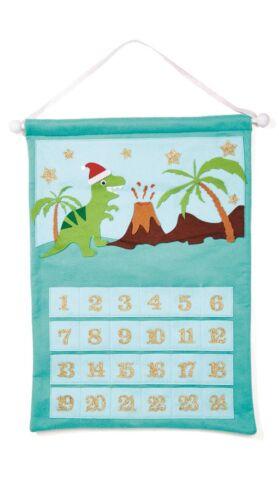 Countdown to Magical Christmas Advent Calendar 24 Individual Pockets Dinosaur