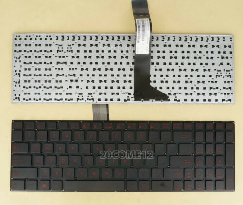 For Asus D551E D551L P552E F520J F520M F550C F550D F550E F550J keyboard US Red
