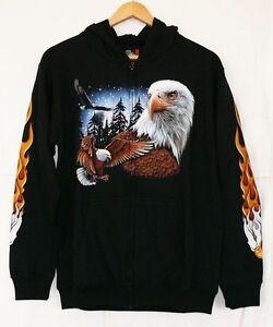 s Hoody Indianer Adler Kapuze l m Western Gr Rocker Chopper jacke sweat Biker wFqU7qfX