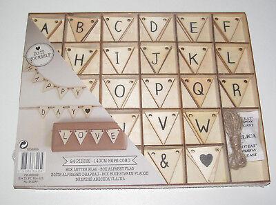 Set Boite Lettre Alphabétique en Bois 81 Pièces Travaux Loisirs Créatif NEUF