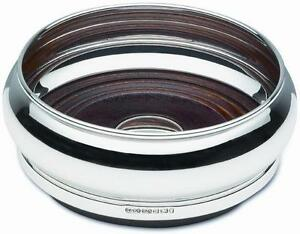 """Solid Silver 4 1//2/"""" BROADWAY /& Co Wine Bottle Slate Barrel COASTER"""