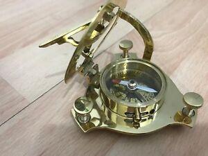 aebb40d7c7d5 Sundial Compass Vintage Brass Nautical 4