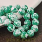 New 10pcs 12mm Lacquer Round Babysbreath Loose Spacer Glass Beads Green