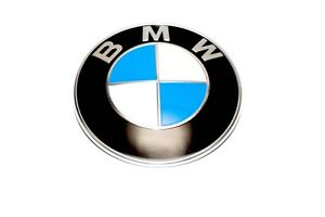 bmw new oem hood emblem badge roundel logo e39 325i e46 x5. Black Bedroom Furniture Sets. Home Design Ideas
