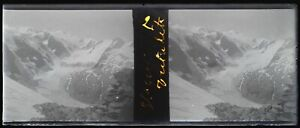 Montagne-Neige-c1920-Negativo-Foto-Stereo-Placca-Da-Lente-VR12nc5