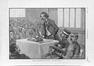 Moeurs-electorales-Election-au-Japon-Reunion-publique-Politique-GRAVURE-1902