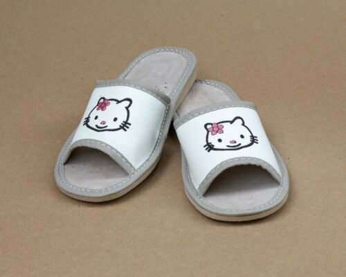 Hello Kitty NEW Kids Children Girls Slippers Sandals Home Shoes Leather Kapcie
