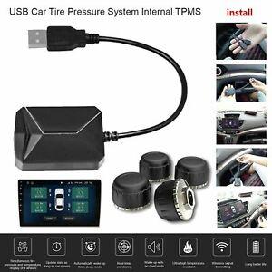 USB-Car-Auto-TPMS-Android-Reifendruckkontrollsystem-Mit-4-Externen-Sensoren-A