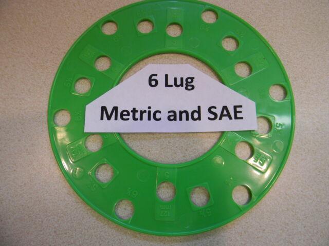 GM Wheel Bolt Stud Lug Pattern Template Gauge Measure Circle Guide New Wheel Bolt Pattern Tool