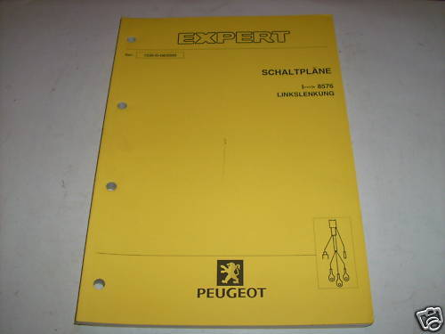 Workshop Manual Peugeot Expert Wiring Diagrams  Piece 2000