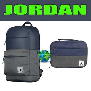 Details About Nike Air Jordan Pivot Backpack And Matching Lunch Box Laptop School Bag 9b0013