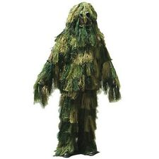 Halloween Costume Military Sniper Camo Disguise Ghillie Suit Woodland XL-XXL