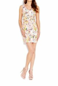 Jessica-simpson-Floral-print-Popover-Sheath-Dress-Size-8