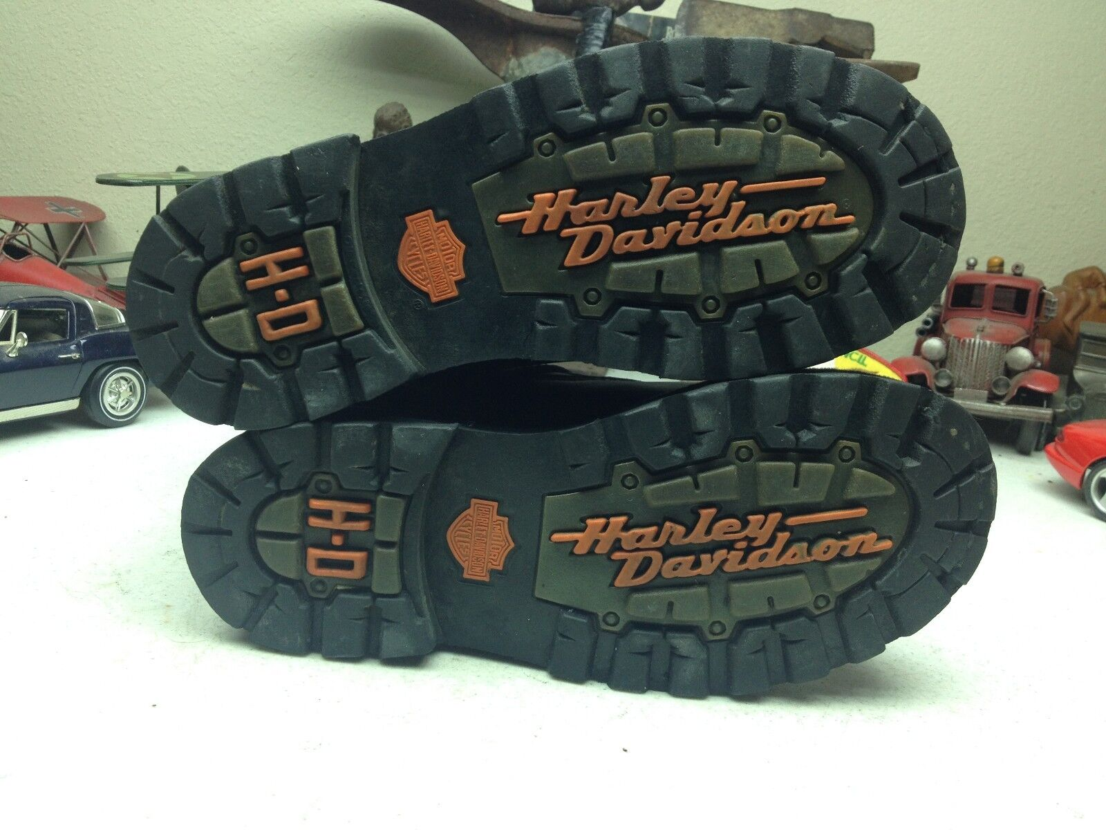 HARLEY DAVIDSON BLACK BLACK BLACK LEATHER LACE UP ZIP UP BUCKLE STRAP MOTORCYCLE BOOTS 6M 4c75a9